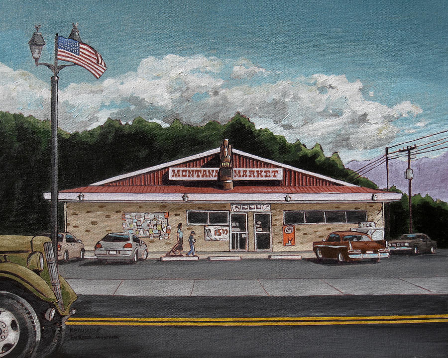 Market Painting - Montana Market by Steve Beaumont