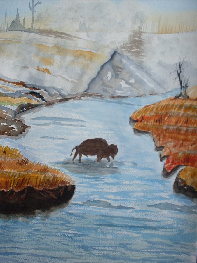 Landscape Painting - Montana Wildlife by Warren Thompson