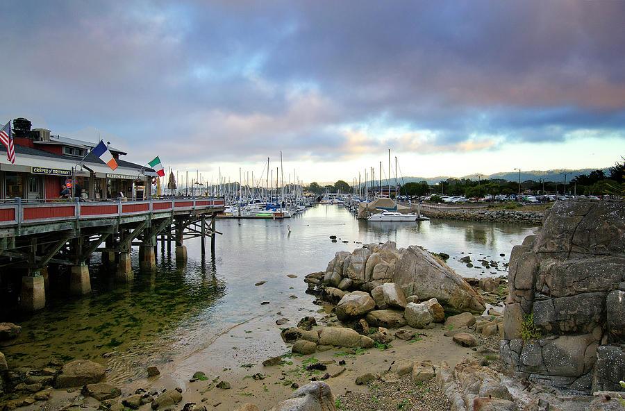 monterey Bay  Photograph - Monterey Harbor - Old Fishermans Wharf - California by Brendan Reals