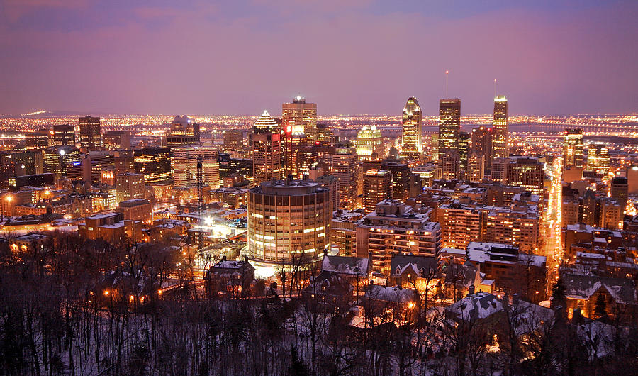 Montreal City Lights Photograph