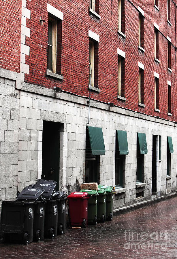 Montreal Garbage Cans Photograph