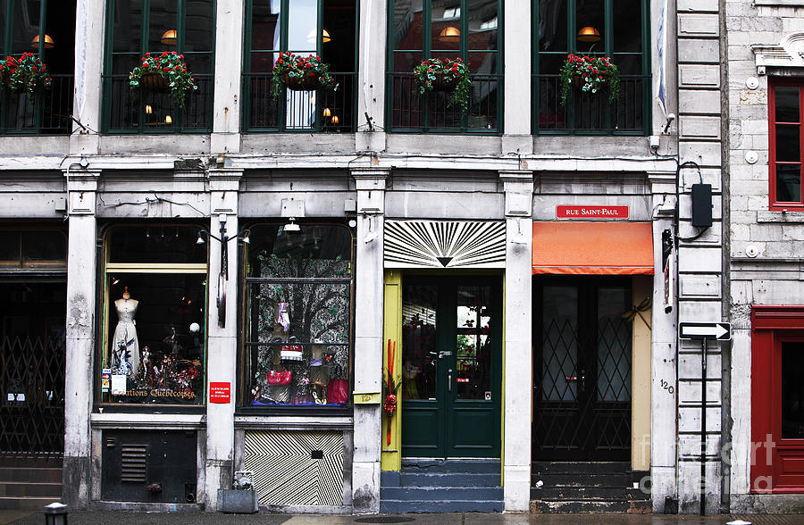 Montreal Shops Photograph - Montreal Shops by John Rizzuto