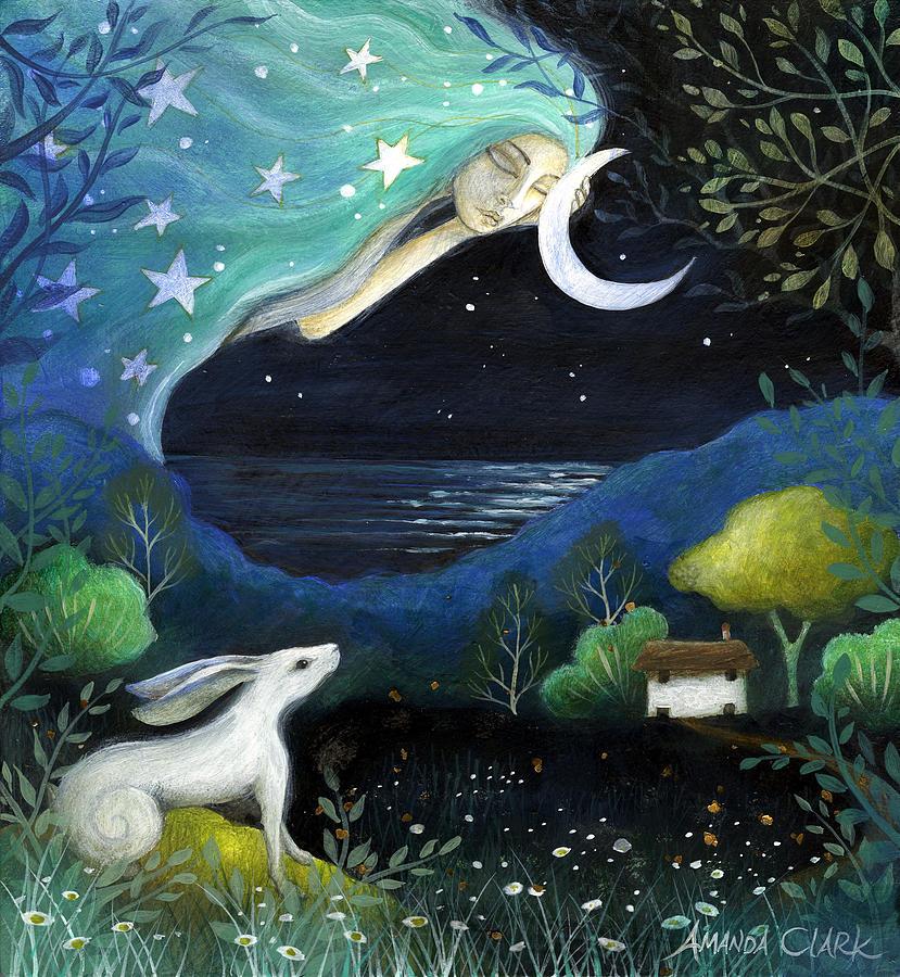 Fairytale Painting - Moon Dream by Amanda Clark