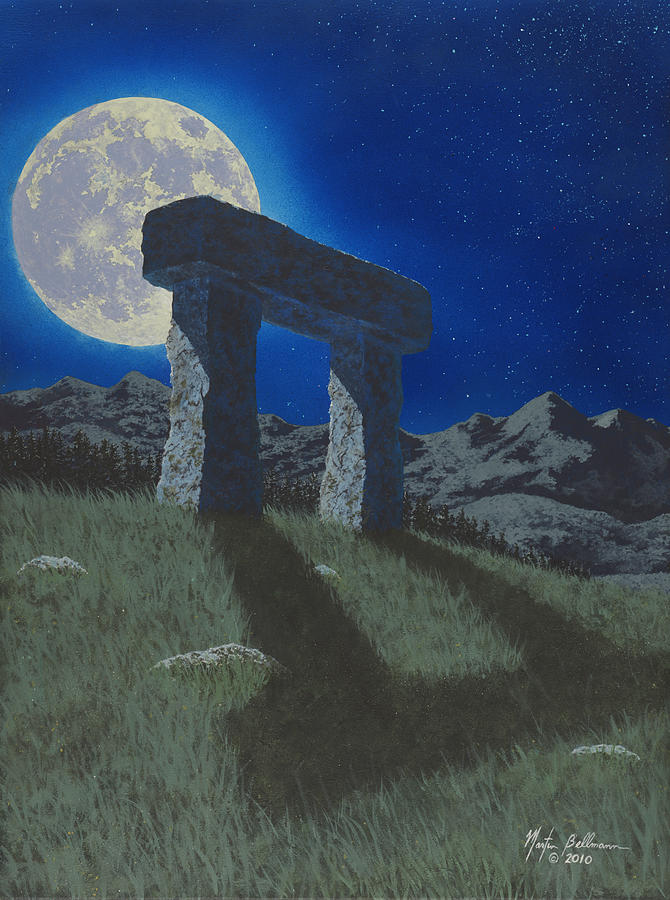 Moon Painting - Moon Gate by Martin Bellmann