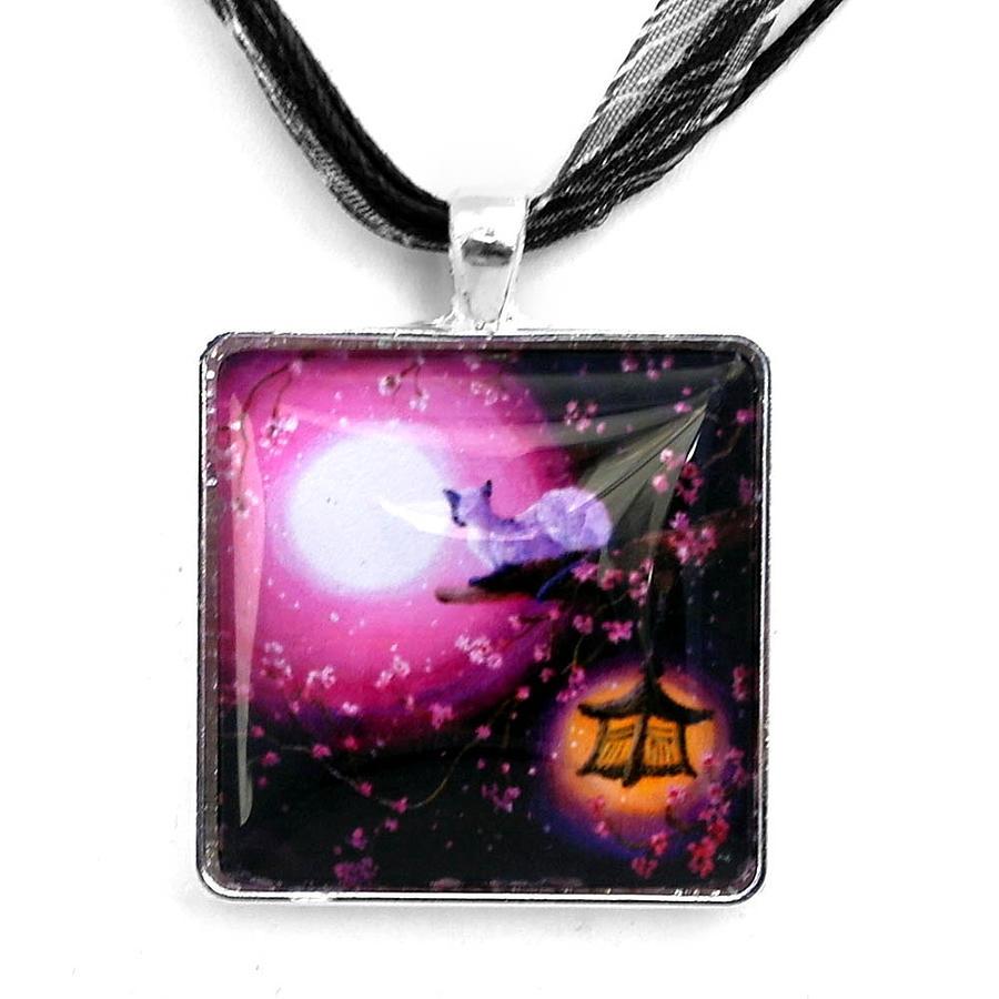 Handmade Jewelry - Moon Glow Lantern Glow Handmade Pendant by Laura Iverson