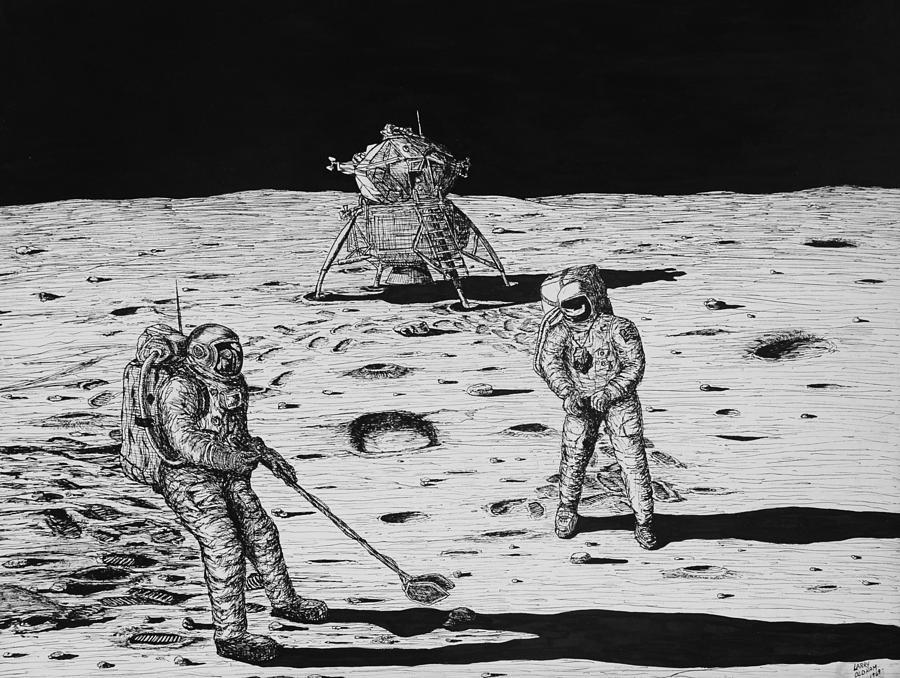drawing apollo 11 moon lander - photo #3