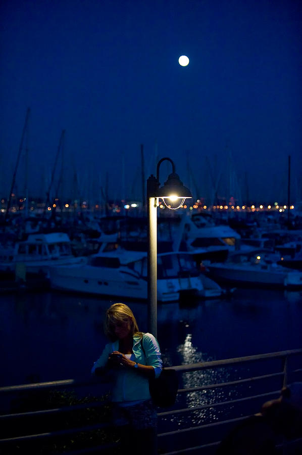 Moon Photograph - Moon Light Texting by Tom Dowd