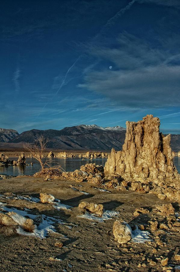 California Photograph - Moon Over Mono by Kurt Golgart