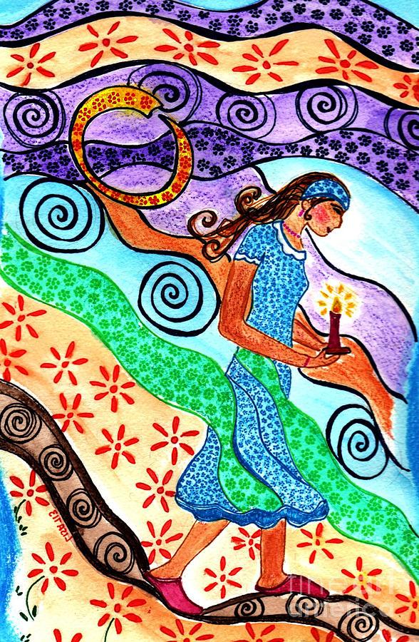 Moonlit Meditation Mixed Media