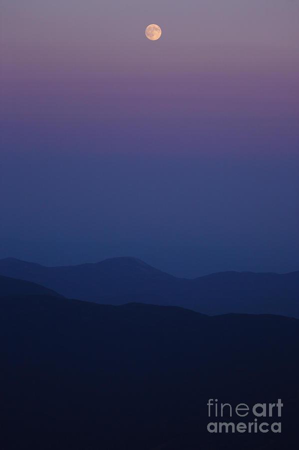Mountains Photograph - Moonrise - Mount Washington New Hampshire  by Erin Paul Donovan