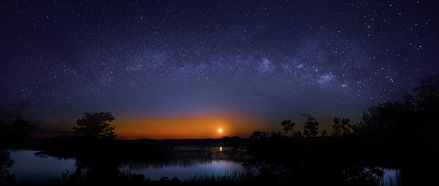 Moonrise At Milky Way Creek Photograph