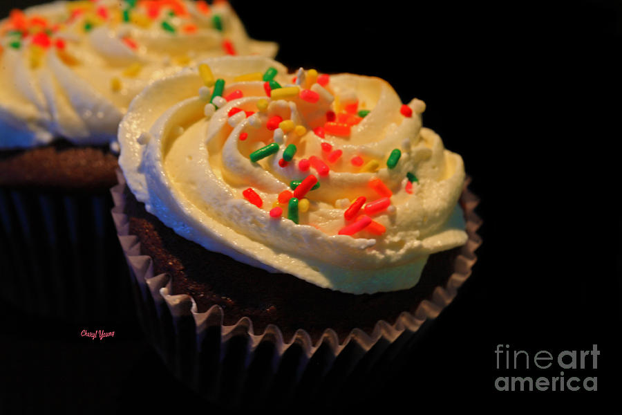 Chocolate Cupcakes Photograph - More Cupcakes by Cheryl Young