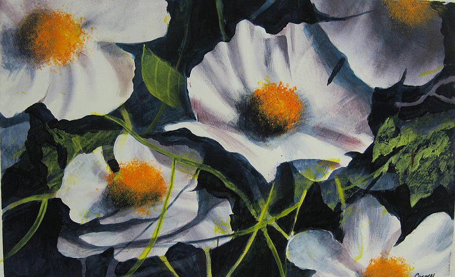 Floral Painting - More Poppies by Robert Carver
