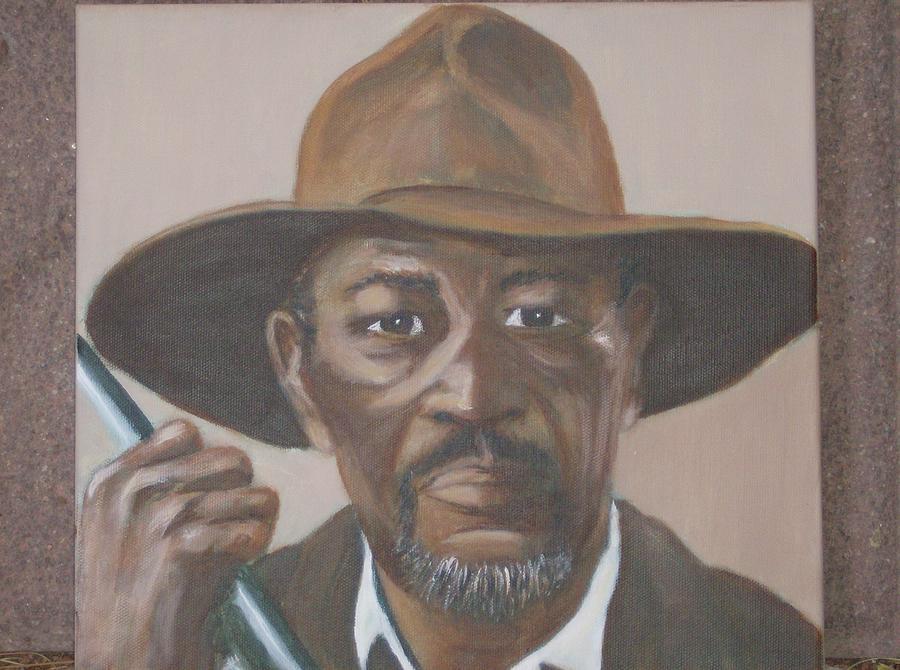 Morgan Freeman Painting - Morgan by KC Knight
