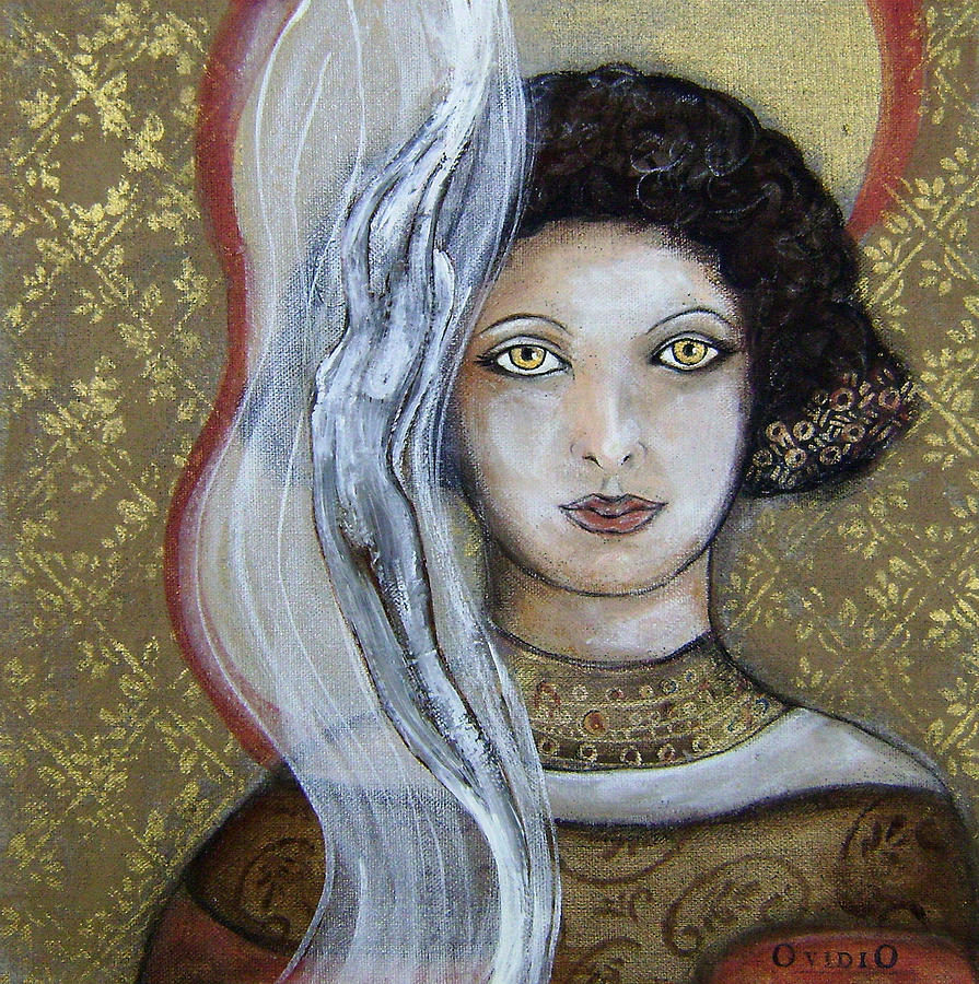 Woman Painting - Morgan Le Fays Enchantments by OvidiO Art
