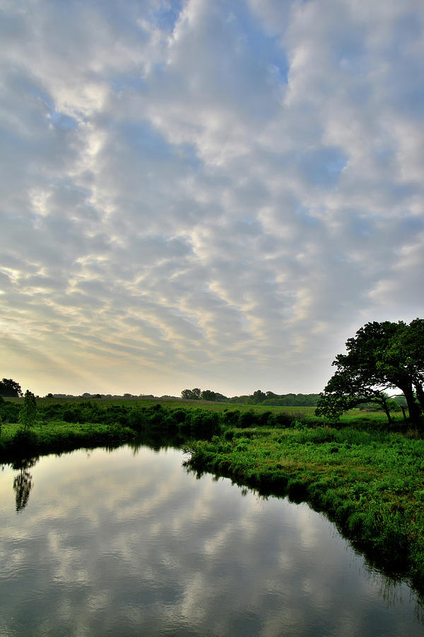 Morning Clouds Reflected In Nippersink Creek Of Glacial Park Photograph