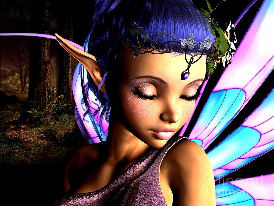 3d Digital Art - Morning Fairy  by Alexander Butler