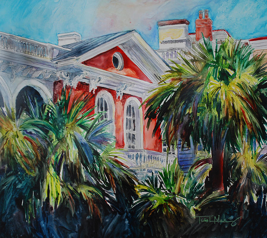 Charleston Painting - Morning Glory On The Battery by Trish McKinney
