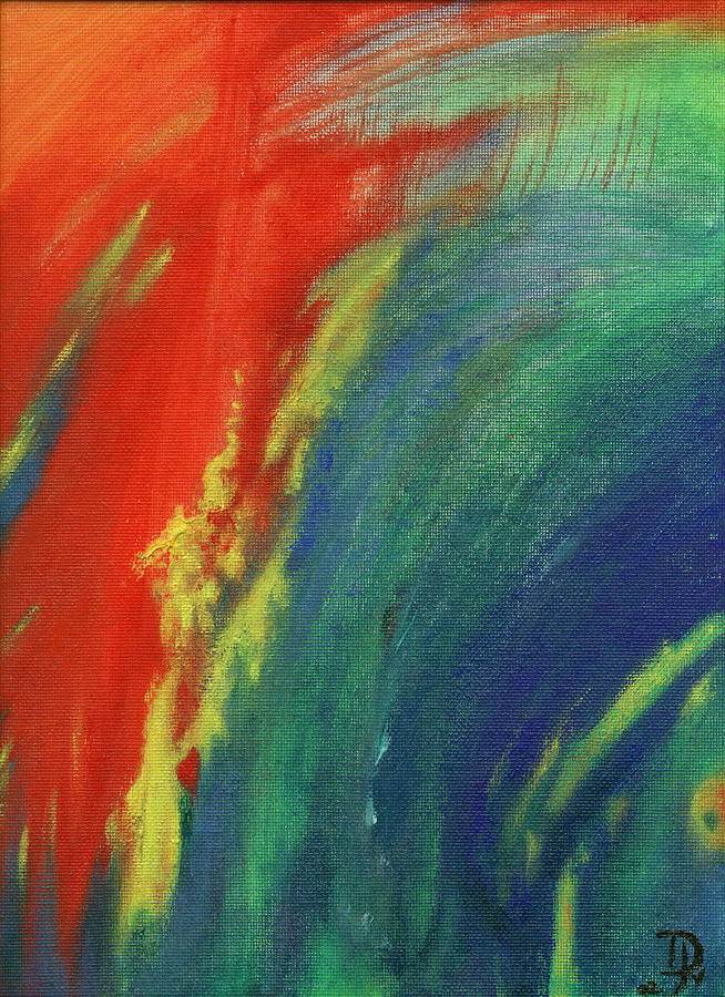 Abstract Painting - Morning In A Nother Place by Jennifer JenniFire DAndrea