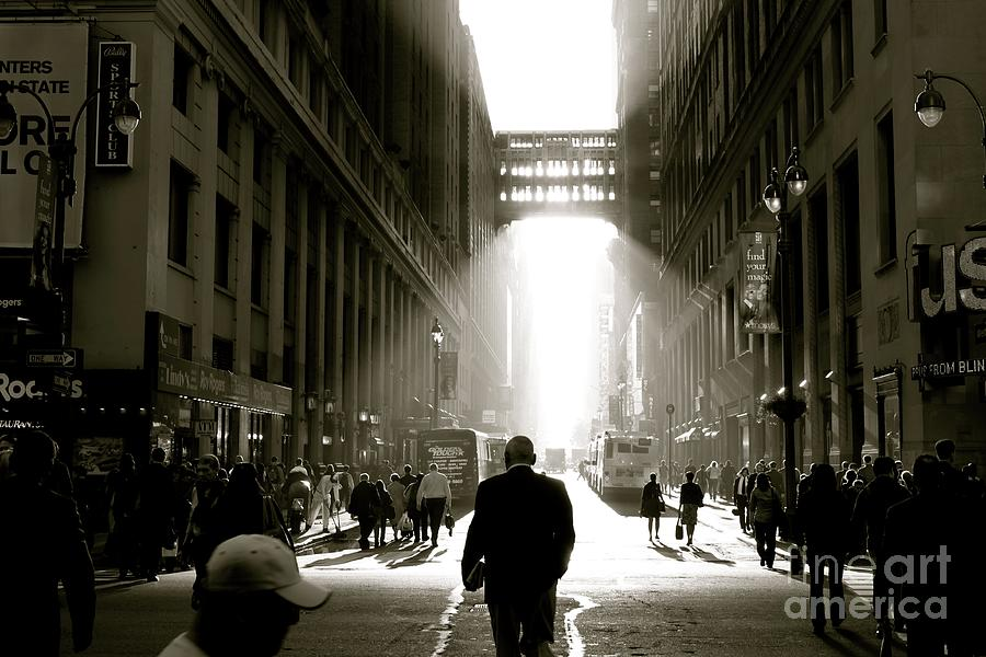 New York Photograph - Morning In Manhattan by Jerry Patterson