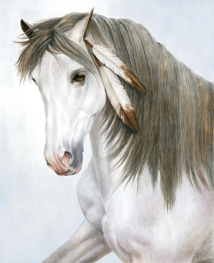 Equine Painting - Morning Mist by Pat Erickson