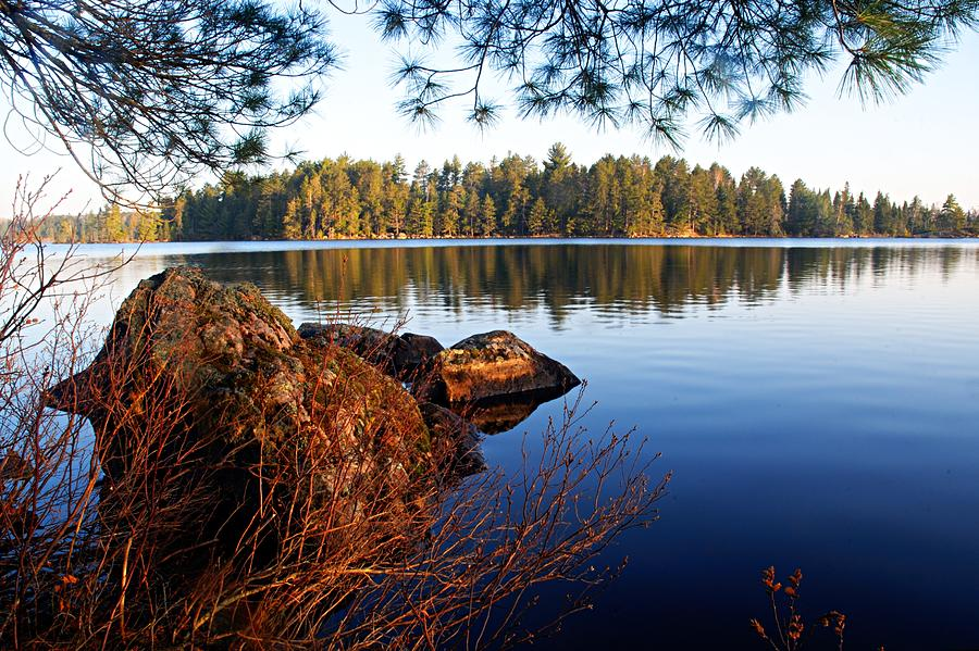 Chad Lake Photograph - Morning On Chad Lake 2 by Larry Ricker
