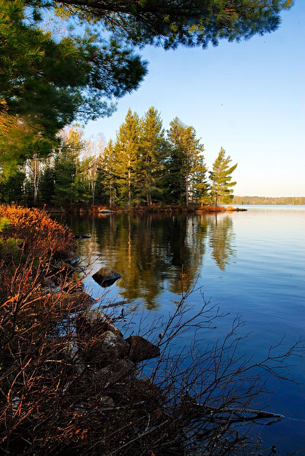 Chad Lake Photograph - Morning On Chad Lake 4 by Larry Ricker