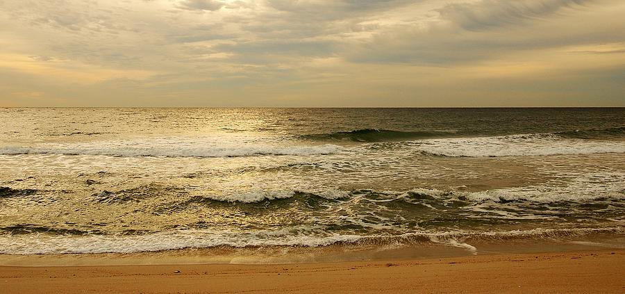 Morning Photograph - Morning On The Beach - Jersey Shore by Angie Tirado