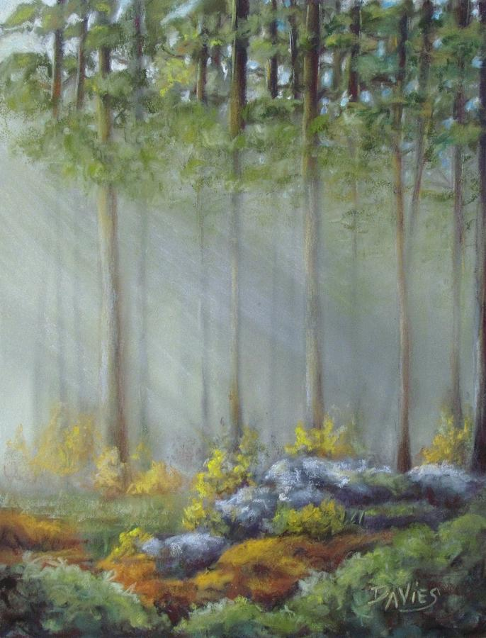 Landscape Pastel - Morning Rays by Debra Davies