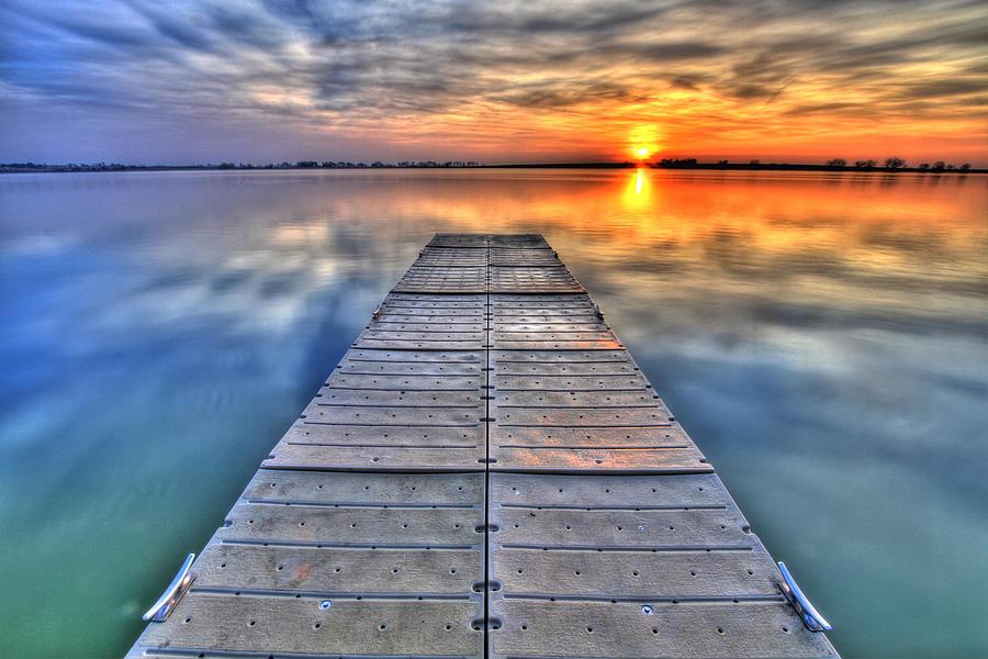 Dock Photograph - Morning Sky by Scott Mahon