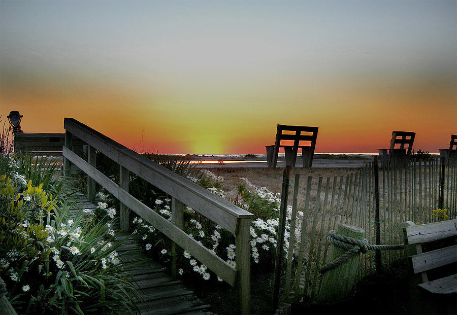 Beach Photograph - Morning View  by Skip Willits