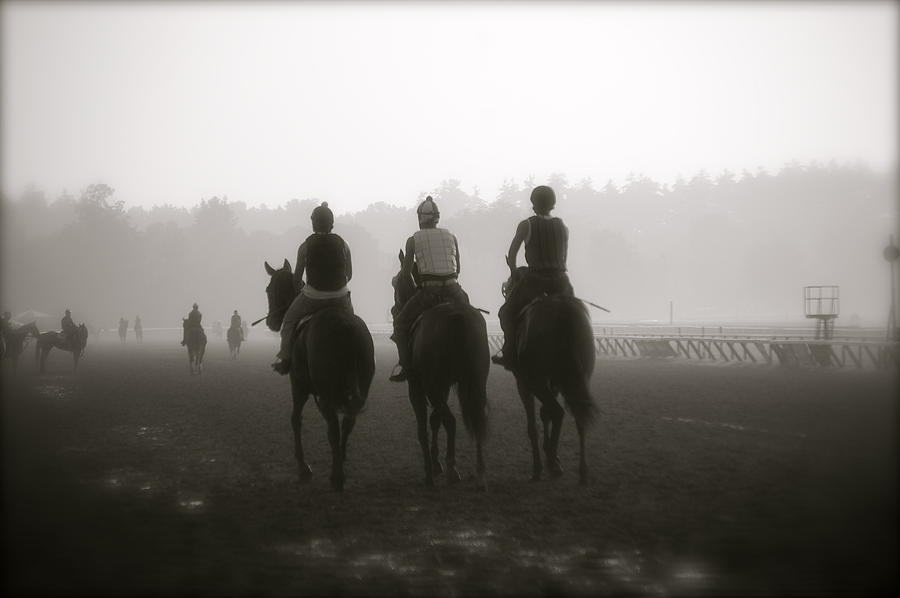 Horses Photograph - Morning Workout Saratoga Ny by Amanda Lonergan