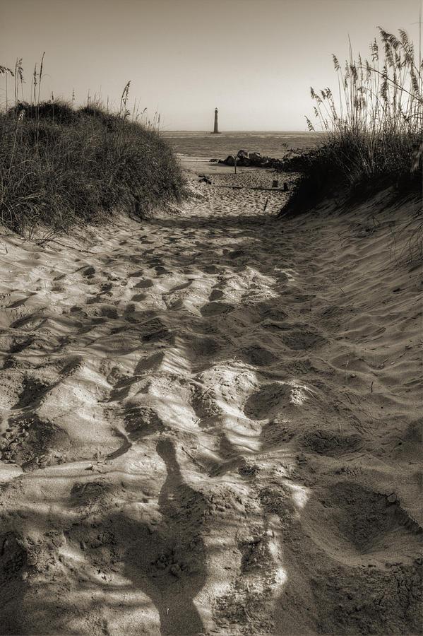 Morris Island Photograph - Morris Island Lighthouse Pathway by Dustin K Ryan