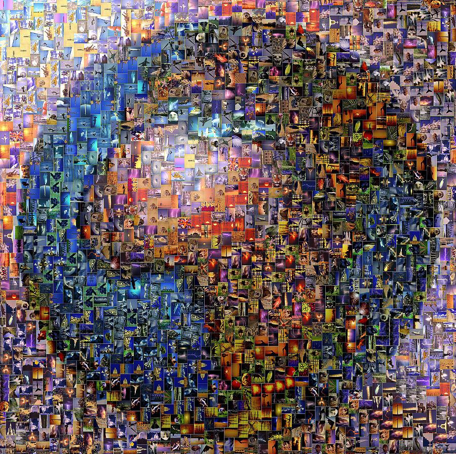 Mosaic Digital Art - Mosaic Earth 2 by Yury Malkov
