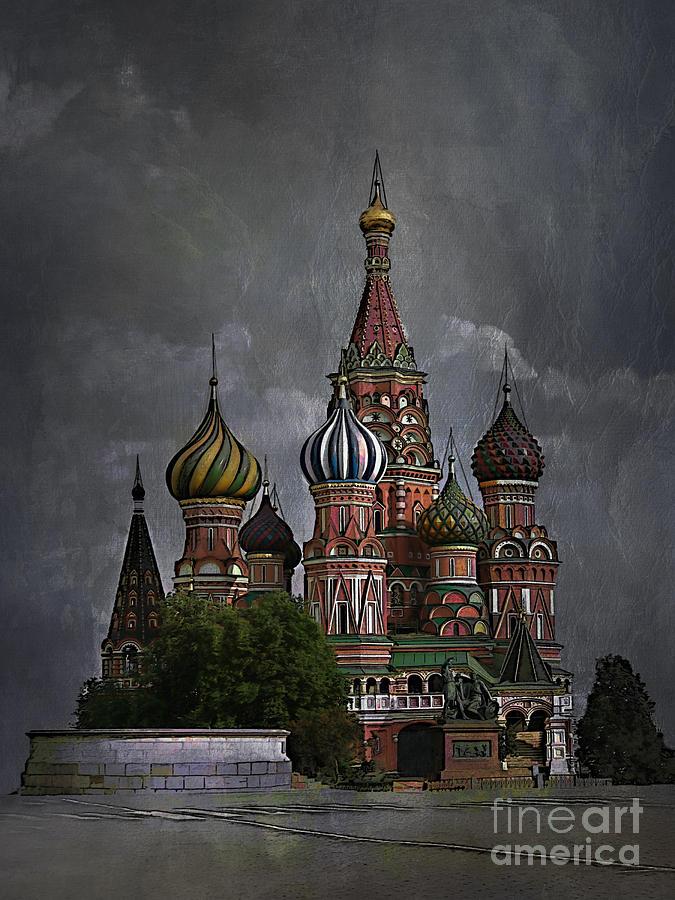 Architecture Painting - Moscow... by Andrzej Szczerski
