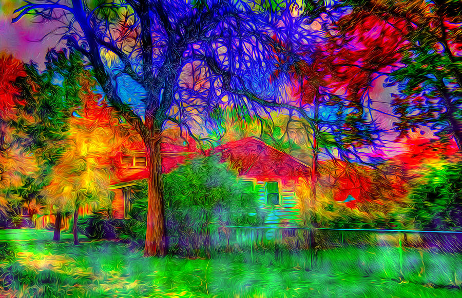 Most Psychedelic Autumn Art Photograph by Ron Fleishman