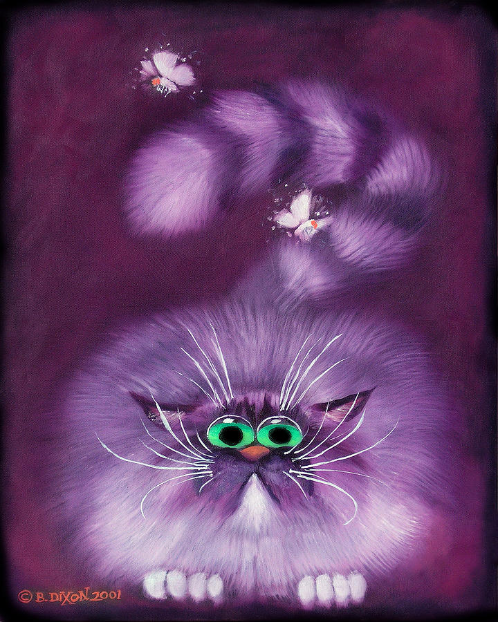 Cat Painting - Moth Hunter by Baron Dixon