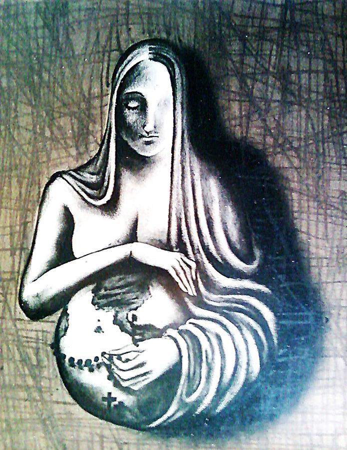 Sacred Feminine Digital Art - Mother Earth by Paulo Zerbato