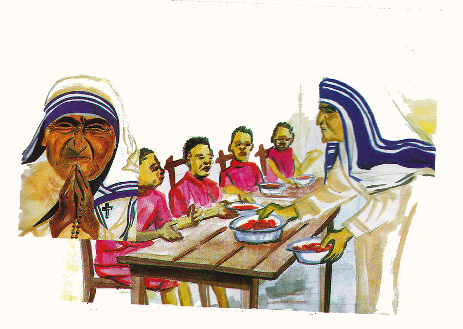 Religion Painting - Mother Teresa by Emmanuel Baliyanga