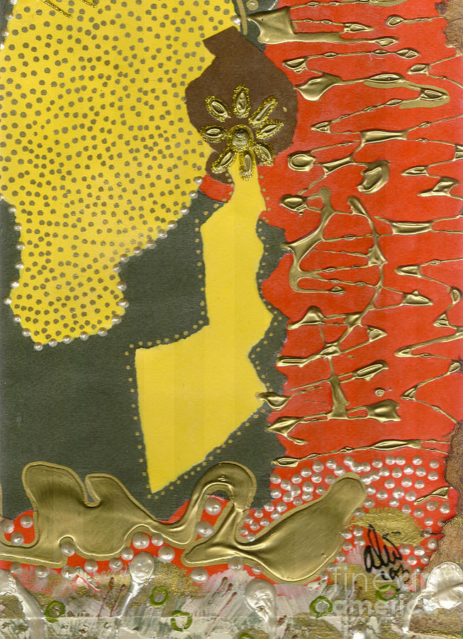 Gretting Cards Mixed Media - Mothers Earring by Angela L Walker