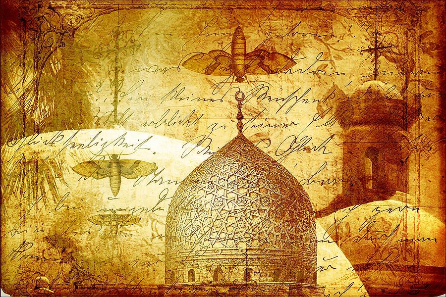 Moth Digital Art - Moths And Mosques by Tammy Wetzel
