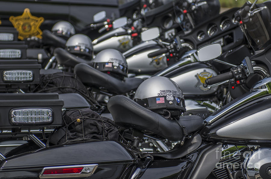 Motorcycle Cops Photograph