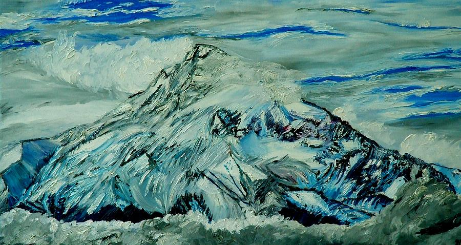 Mountain Painting - Mount Hood  by Gregory A Page