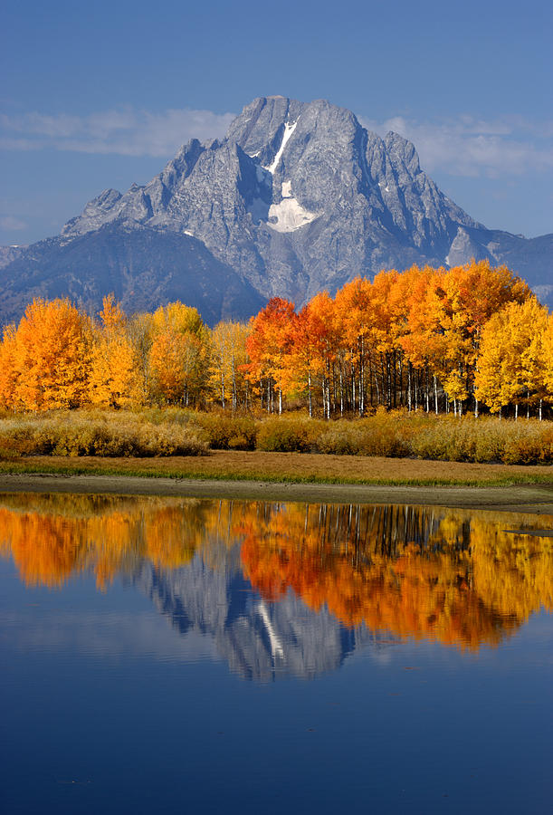 Wyoming Photograph - Mount Moran Reflections by Eric Foltz