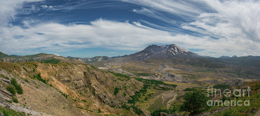 Mount Saint Helens Volcano Washington Photograph