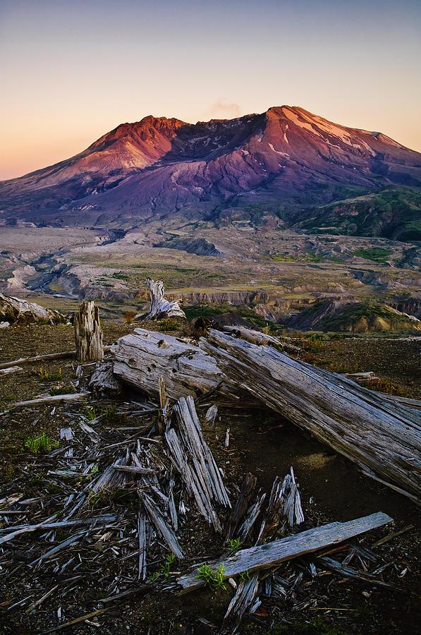 Mount St. Helens Sunset Photograph