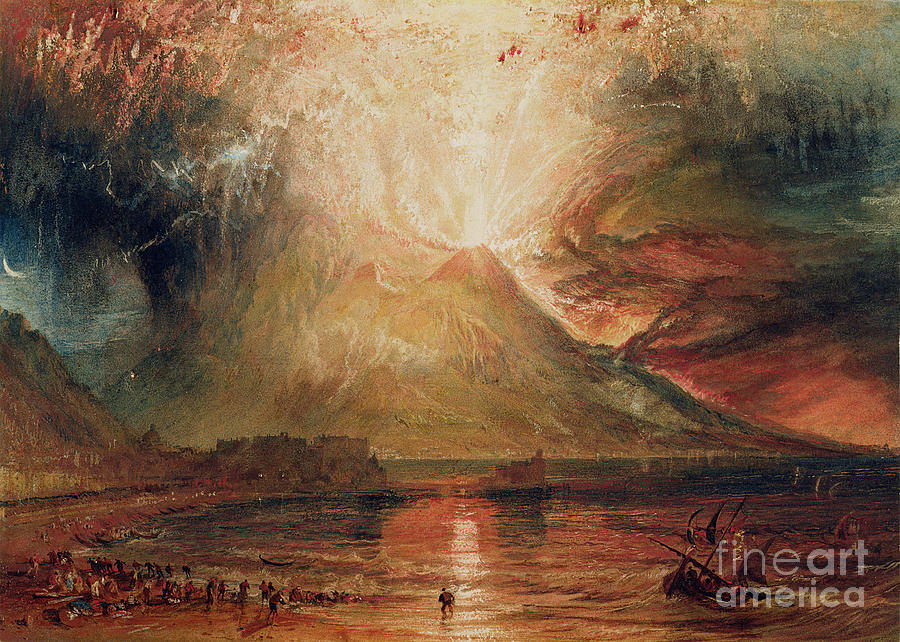 Mount Painting - Mount Vesuvius In Eruption by Joseph Mallord William Turner