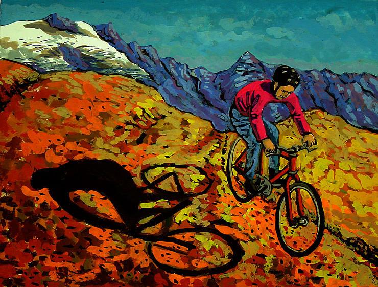 Mountain Bike Painting by Javier Molina