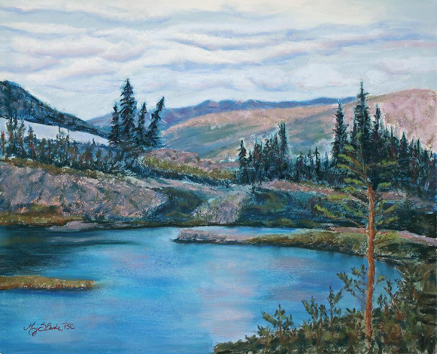 Mountain Painting - Mountain Lake by Mary Benke
