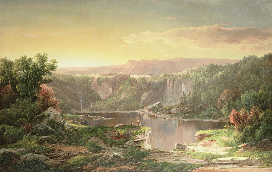 Mountain Lake Near Piedmont Painting - Mountain Lake Near Piedmont by William Sonntag